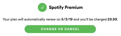 Spotify Premium cancel