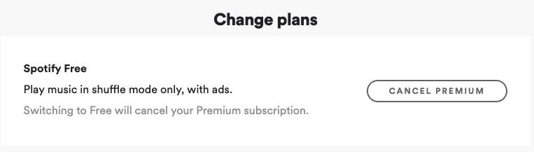 Switch to Spotify Free