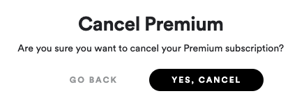 Spotify Premium once last chance