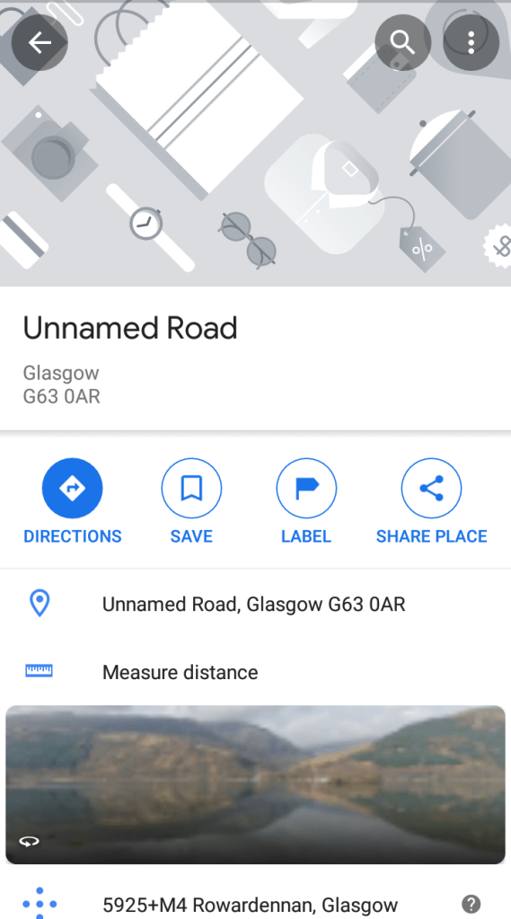 Measure distance Google Maps app