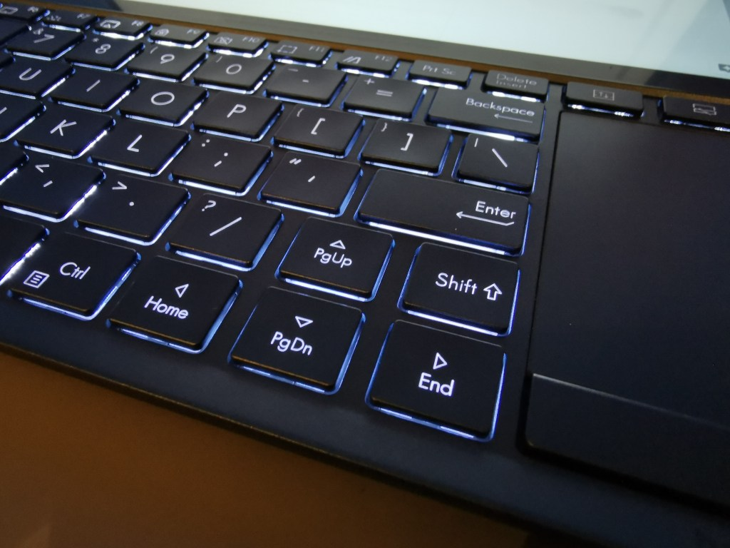 Asus ZenBook Pro Duo review keyboard