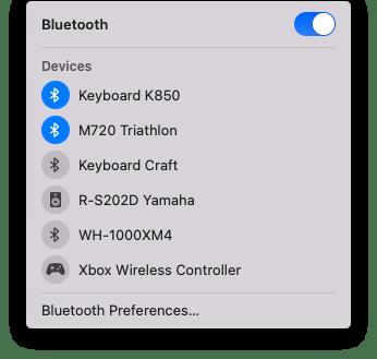 Mac Bluetooth settings
