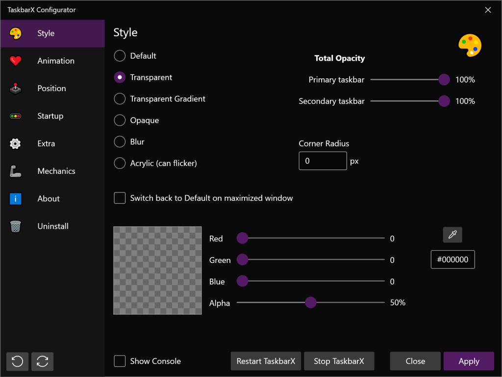 centre taskbar windows 10