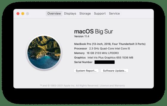identify macbook model