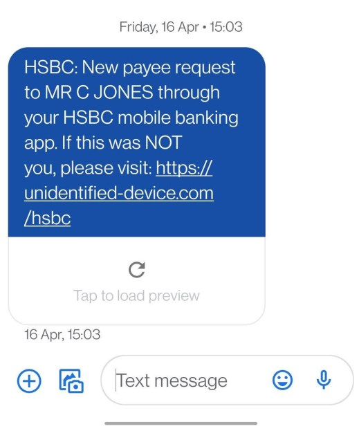 report spam text message