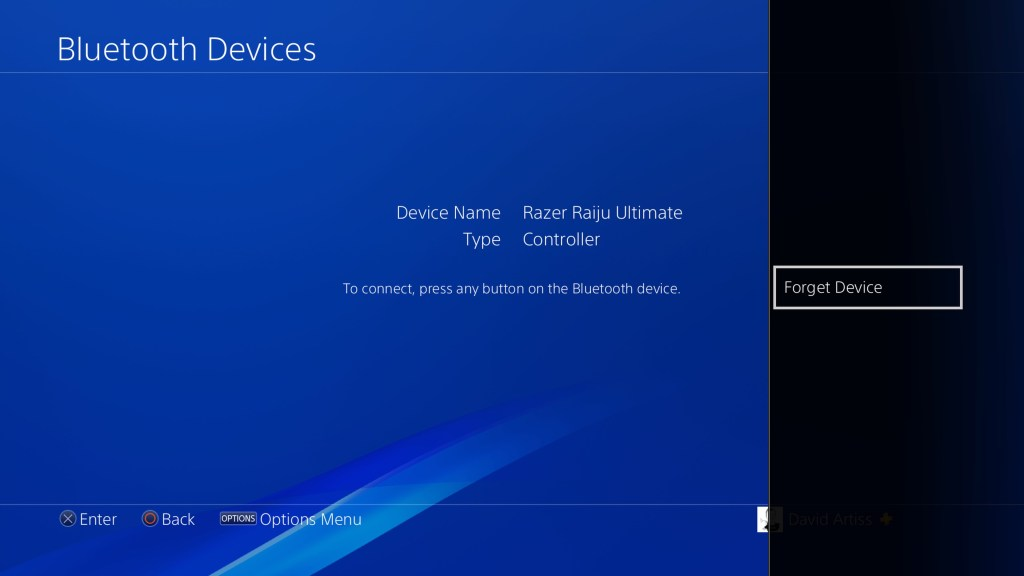 unpair bluetooth device playstation 4