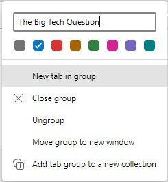 What are group tabs in Microsoft Edge and how do I use them