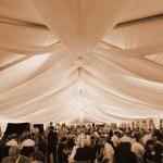 Sheer Event Ceiling Draping Rental In Iowa Illinois Weddings