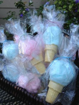 ice cream cotton candy cones