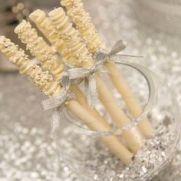 white dipped pretzals