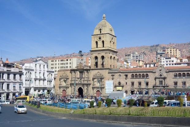 La Paz's famous, Plaza San Fransisco