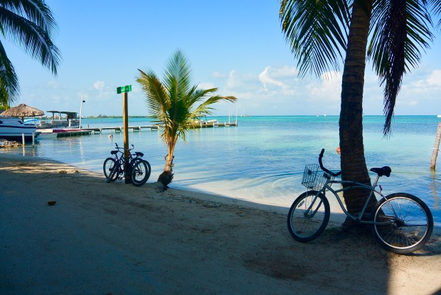 Bike by the water