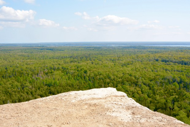 Cup and Saucer lookout on Manitoulin Island