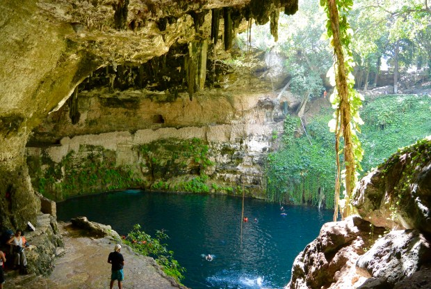 Zaci cenote near Cancun, Mexico