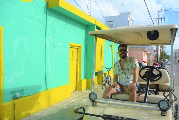 Thruxton on golf cart