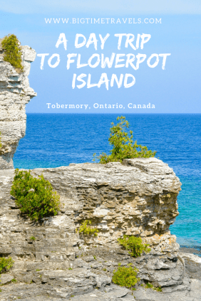 "Flowerpot Island is 6.5km off the coast of Tobermory, Ontario making it a perfect day trip. The island is known for its turquoise waters and famous ""flowerpot"" rock pillars. #FlowerpotIsland #Tobermory #BruceCounty #Ontario #Canada"