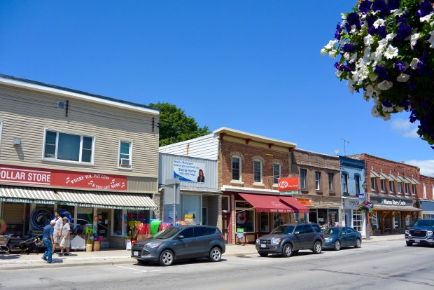 Downtown Wiarton, Ontario