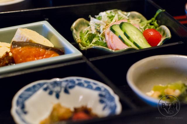 A Japanese breakfast in Kyoto