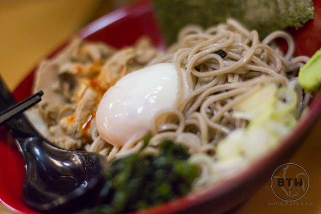 Close-up of a bowl of ramen in Tokyo, Japan
