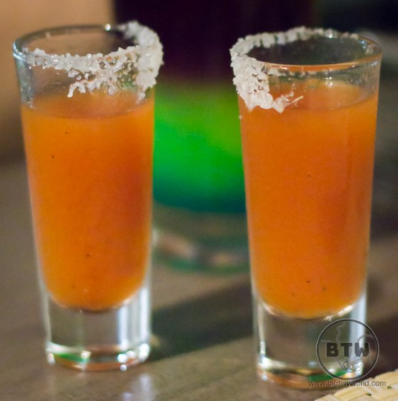 Two shots of chili water in Costa Rica   BIG tiny World Travel