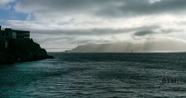 The sun poking through the clouds over the San Francisco Bay | BIG tiny World Travel