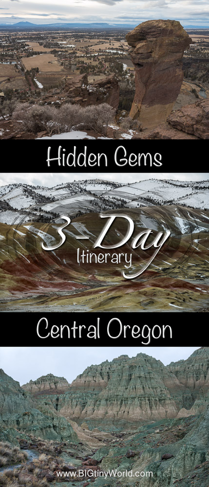 Hidden Gems of Central Oregon: 3-Day Itinerary | BIG tiny World Travel | Central Oregon is home to many hidden wonders. Click to check out this 3-day itinerary for a unique long weekend in this beautiful state! | #traveloregon #centraloregon #sightseeing #paintedhills #smithrock #bluebasin #pacificnorthwest