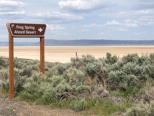 Alvord Desert Sign