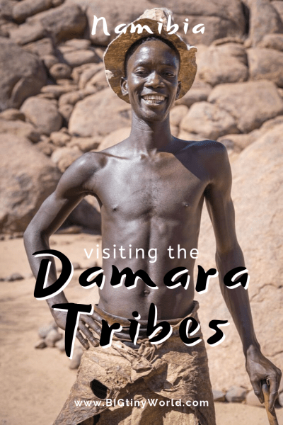 Visiting the Damara Tribes | BIG tiny World Travel | We visited the Damara tribe in Namibia at the Damara Living Museum. There we watched them make fire, medicine, and weapons. The program finished with a song and dance, as well as some good conversation. lick here to learn more about the Damara tribe. | #travel #africatravel #damara #tribes #native #shadeadventures