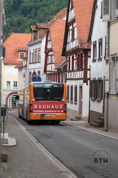 Bus in Heidelberg Streets