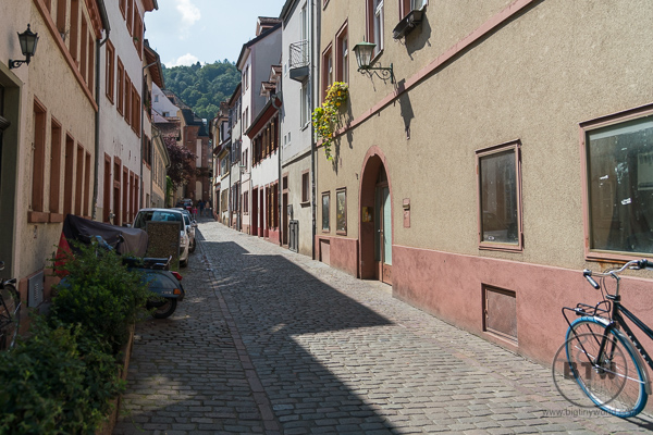 Cobblestone Streets in Heidelberg Germany