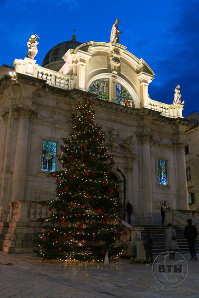 Christmas tree in Dubrovnik Croatia