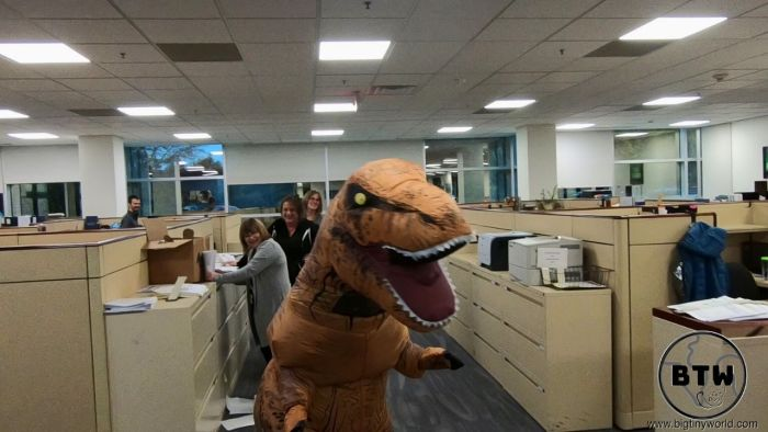 Dino Suit in Office