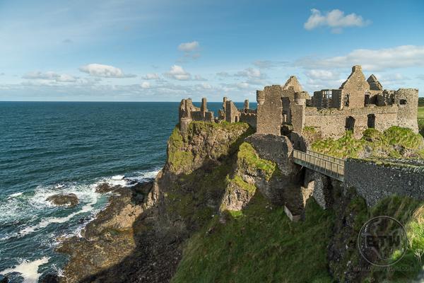 Dunluce Castle with Sea