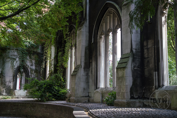 St Dunstan of the East Ruins Park London UK
