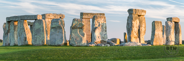 Stonehenge Landscape at Sunset Salisbury UK
