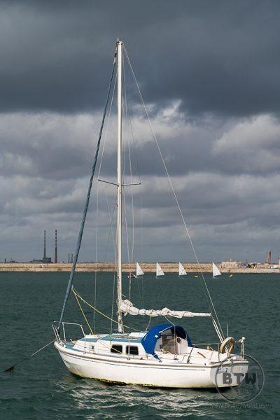 A sailboat in the harbor at Dun Laoghaire, Ireland | BIG tiny World Travel