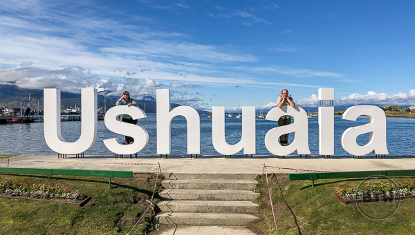 Ushuaia Sign in Harbor