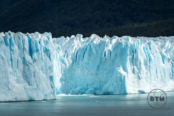 The Perito Moreno Glacier face in Argentina
