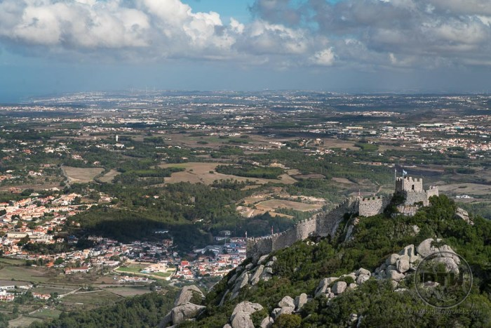 Castle of Moors as seen from Pena Palace, Sintra, Portugal