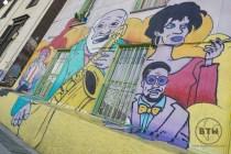 Jazz themed mural Valparaíso