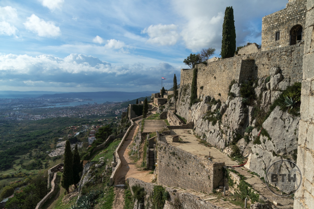 The ruins if Klis Fortress in Split, Croatia