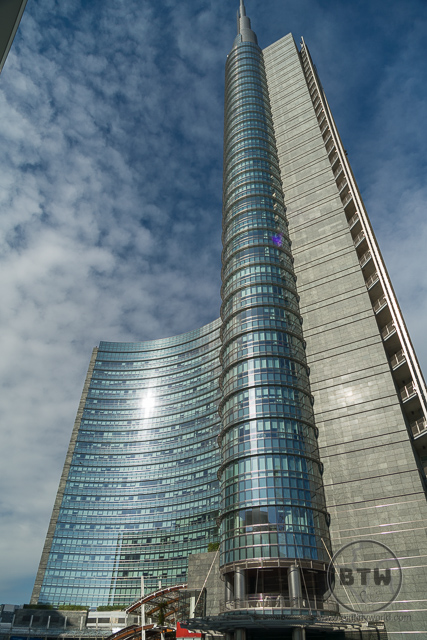 Glass business tower in Milan, Italy