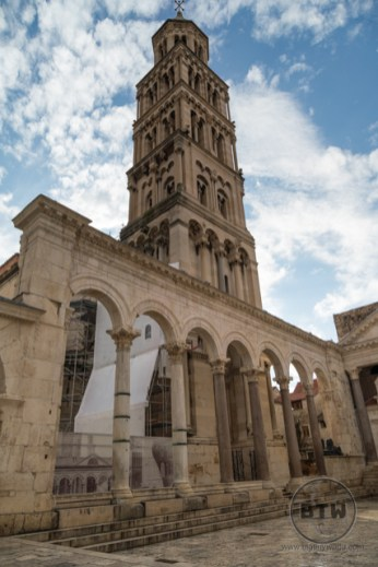 The St. Domnius Cathedral tower in Split, Croatia