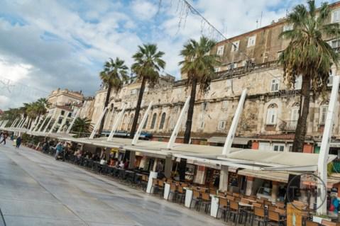 The waterfront of Split, Croatia