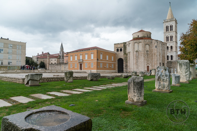 An old Roman forum in Zadar, Croatia
