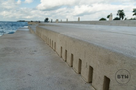 The waterfront Sea Organ in Zadar, Croatia