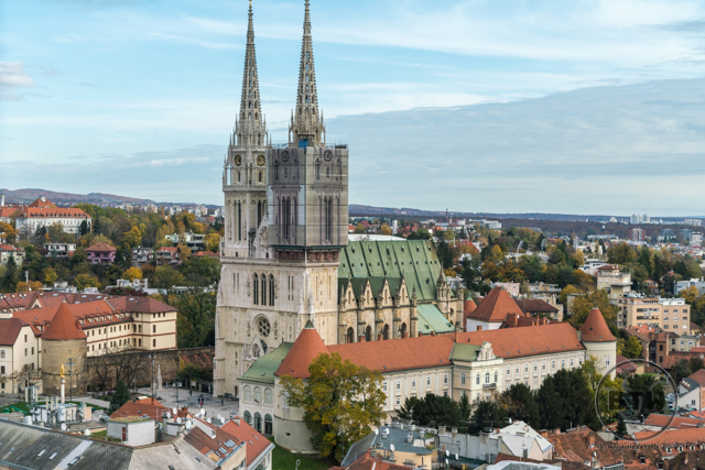 The Zagreb Cathedral, in Zagreb, Croatia