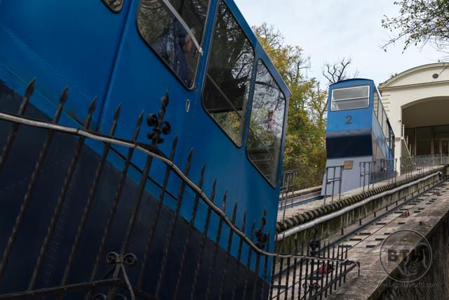The funicular in Zagreb, Croatia