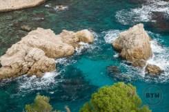 Rocks in Pile Bay in Dubrovnik, Croatia