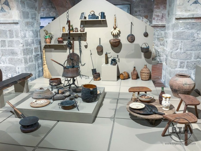 A display in the Ethnographic Museum in Dubrovnik, Croatia
